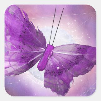 Purple Butterfly Fantasy Moon Designs Sticker