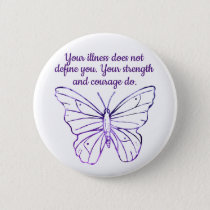Purple Butterfly Fibromyalgia illness Encouragemen Button