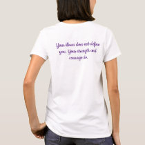 Purple Butterfly Fibromyalgia quote T-Shirt