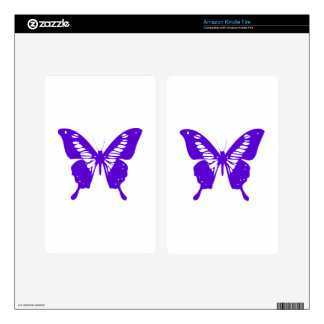 Purple Butterfly fly,caterpillar,pattern,insect,bu Skin For Kindle Fire