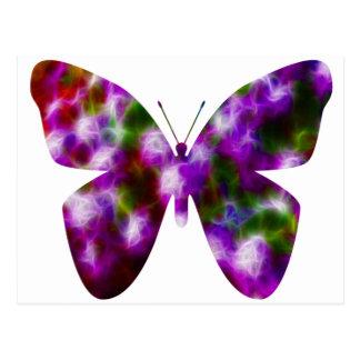 Purple butterfly fun post card