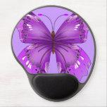 Purple Butterfly Gel Mouse Pad