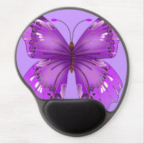 Purple Butterfly Gel Mouse Pad
