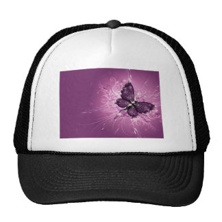 PURPLE BUTTERFLY MESH HATS