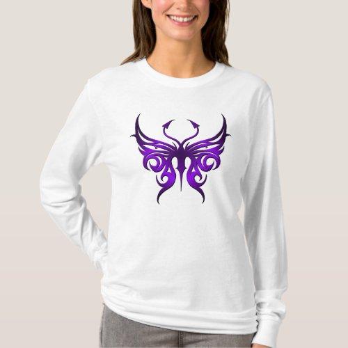 Purple butterfly hoodie T_Shirt