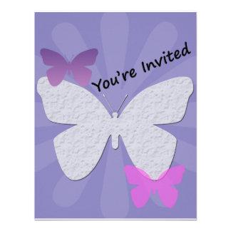 Purple Butterfly Invitation