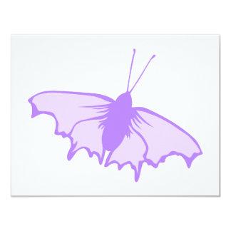 "Purple Butterfly. 4.25"" X 5.5"" Invitation Card"