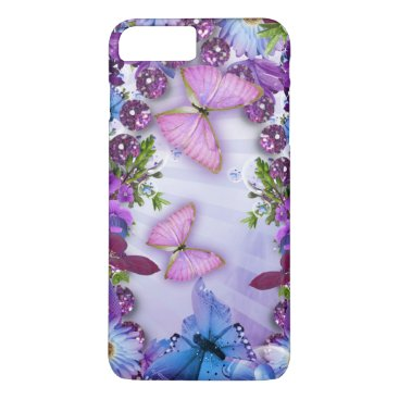birthday Purple Butterfly iPhone 7 Plus Case
