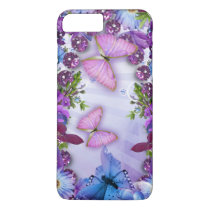 Purple Butterfly iPhone 8 Plus/7 Plus Case
