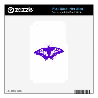 Purple Butterfly iPod Touch 4G Decals