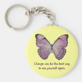 Purple Butterfly Keychain