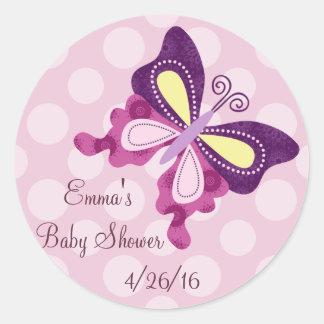 Purple Butterfly Lane Stickers/Envelope Seals