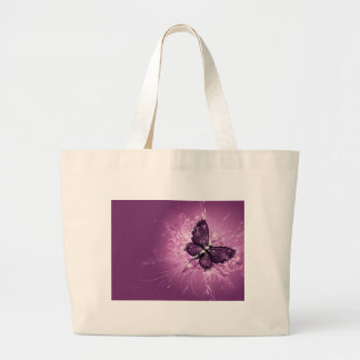 PURPLE BUTTERFLY LARGE TOTE BAG