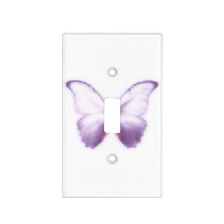 Purple Butterfly Light Switch Cover