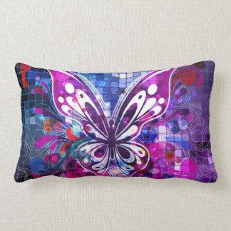 Purple Butterfly Lumbar Pillow