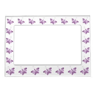 Purple Butterfly Magnetic Picture Frame
