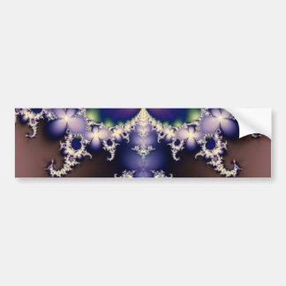 Purple Butterfly on Ice Crystals Fractal Art Gifts Bumper Sticker