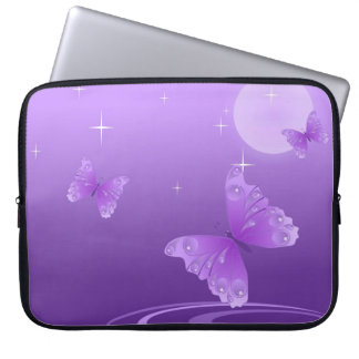 Purple Butterfly on the Dewy Lake Computer Sleeve