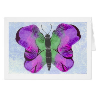 Purple Butterfly Painting Card