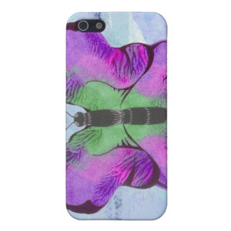 Purple Butterfly Painting Cover For iPhone SE/5/5s