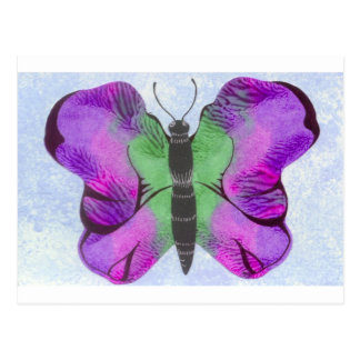 Purple Butterfly Painting Postcard