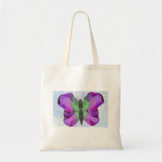 Purple Butterfly Painting Tote Bag