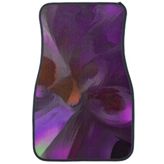 Purple Butterfly Pastel Abstract Car Mat