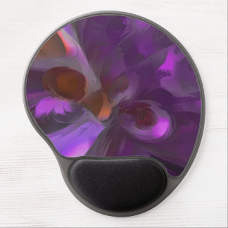 Purple Butterfly Pastel Abstract Gel Mouse Mat