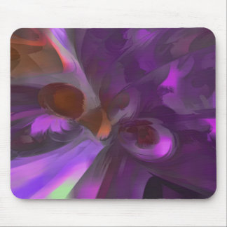 Purple Butterfly Pastel Abstract Mouse Pads
