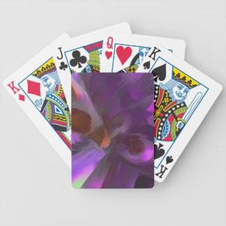 Purple Butterfly Pastel Abstract Bicycle Playing Cards
