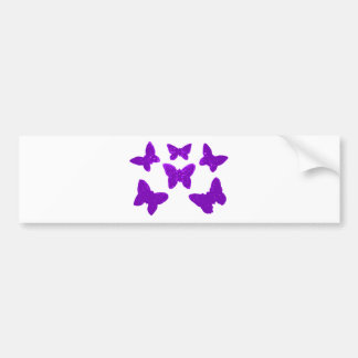 Purple Butterfly Pattern Bumper Sticker