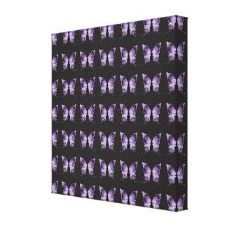 Purple Butterfly Pattern Canvas Print