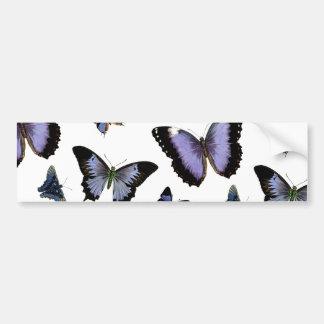 Purple Butterfly Pattern Car Bumper Sticker