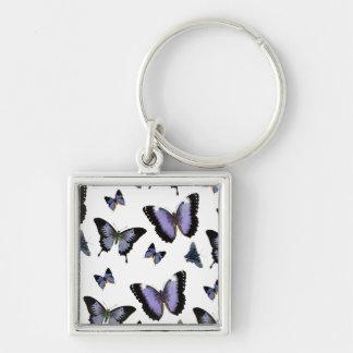 Purple Butterfly Pattern Keychain