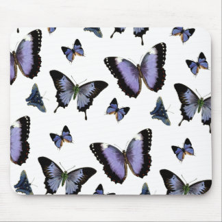 Purple Butterfly Pattern Mouse Pad