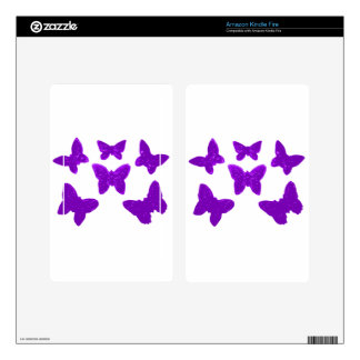Purple Butterfly Pattern Decal For Kindle Fire