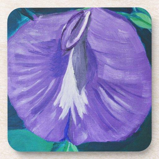 Purple Butterfly Pea Coaster