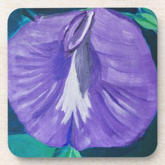 Purple Butterfly Pea Coaster