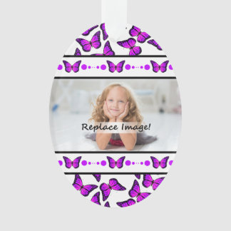 Purple Butterfly Photo Picture Frames Ornament