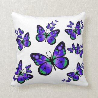 Purple Butterfly Pillow