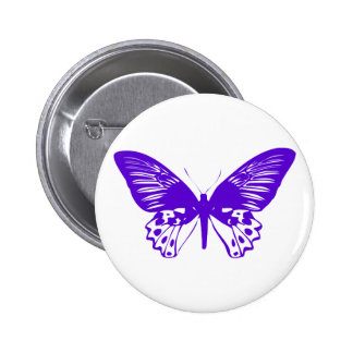 Purple Butterfly Pinback Button