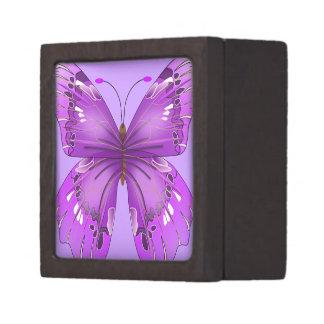 Purple Butterfly Premium Keepsake Boxes