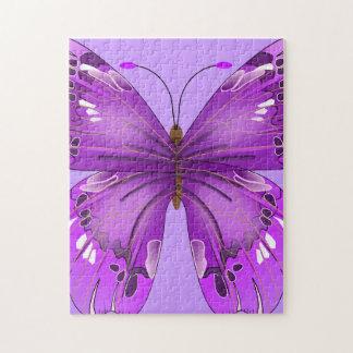 Purple Butterfly Jigsaw Puzzles