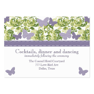Purple Butterfly Reception Enclosure Cards Business Cards