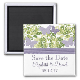 Purple Butterfly Save the Date Magnet