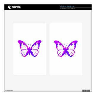 Purple Butterfly Skin For Kindle Fire