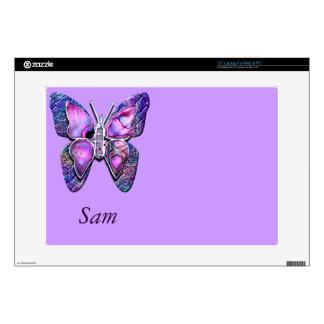 Purple Butterfly sparkle Skin For Laptop
