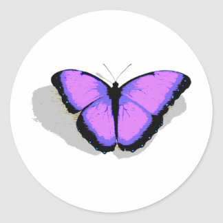 Purple Butterfly! Round Sticker