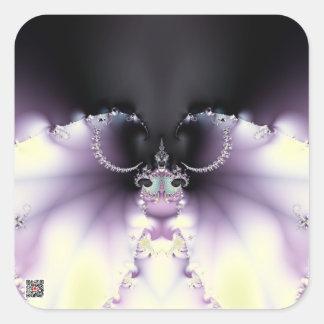 Purple Butterfly Square Sticker