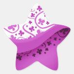 Purple Butterfly Stickers
